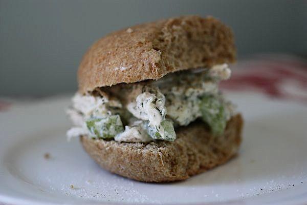 dill chicken salad bagel chicken salad sandwich hit best dill chicken ...