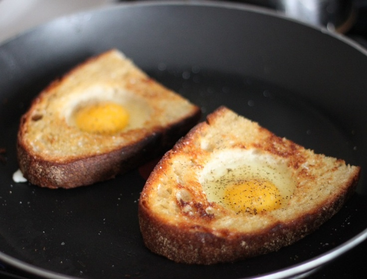 Recipe: Eggs In A Hole | EAT ALL THE FOOD STUFFS! | Pinterest
