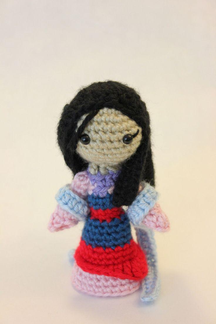 Amigurumi Principesse Disney : PATTERN Mulan Princess Amigurumi Doll