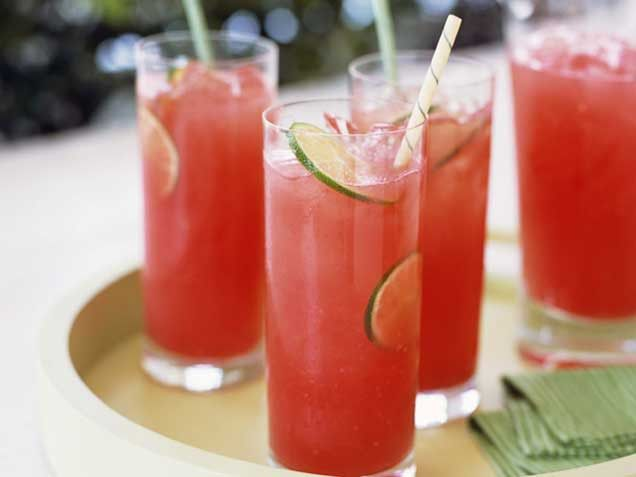 Watermelon Coolers (watermelon, tequila, lime, pineapple-mint)
