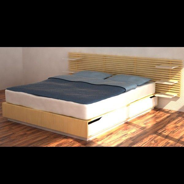 Ikea Aspelund Table De Chevet ~ bed ikea mandal 3d model  Ikea Mandal Bed  by MilosJakubec