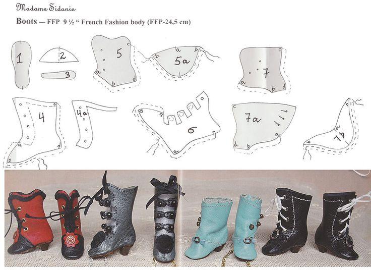 Простая обувь для куклы своими руками 92