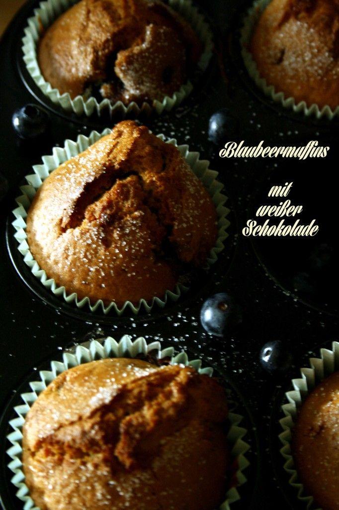 blaubeermuffins mit weißer schokolade cupcakes und muffins rezept