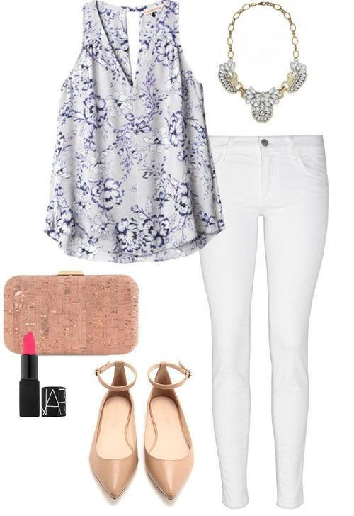 A beautiful summer evening outfit. Elegant