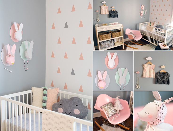 Adorable pastel nursery room