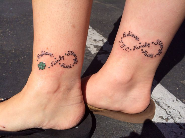Mother Daughter Infinity Tattoo