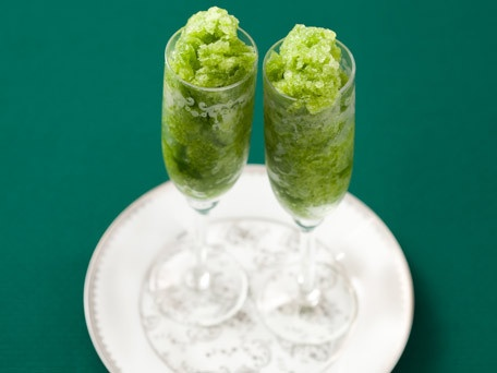 ... this for a Thanksgiving dessert // Green Apple and Basil Granita