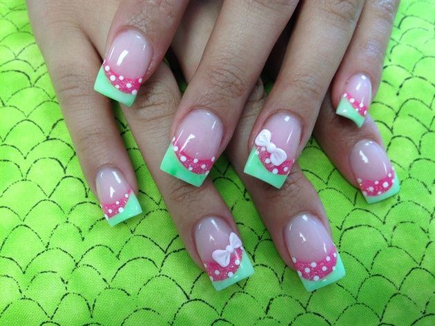 Bow  Nail Art Gallery by NAILS Magazine  Nails!  Pinterest