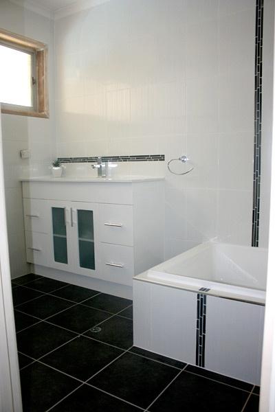 bathroom vanities brisbane white and black bathroom with feature