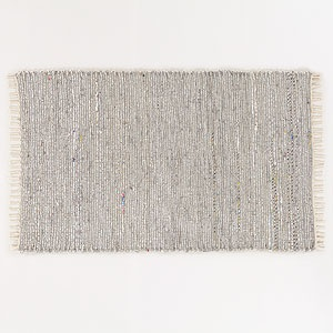 3'x5' Silver and Grey Metallic Rug | World Market