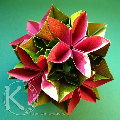 marions globe #origami #flower #paper