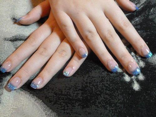 Gel Nail Polish - http://naildesignguide.com/acrylic-natural-blue-gel