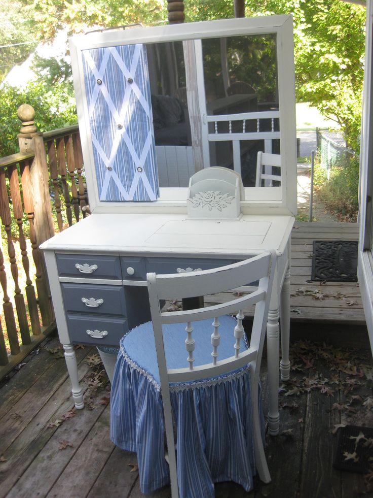 Sewing Table Repurposed to Bathroom Vanity