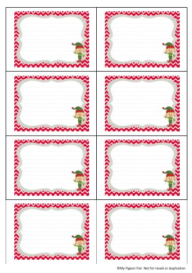 Blank Elf on the Shelf clue cards - free printable! | My Pigeon Pair