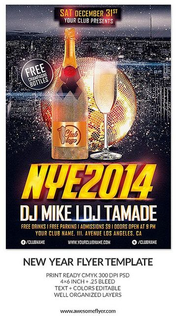... Templates: http://www.awesomeflyer.com/flyer-bundles/new-years-eve