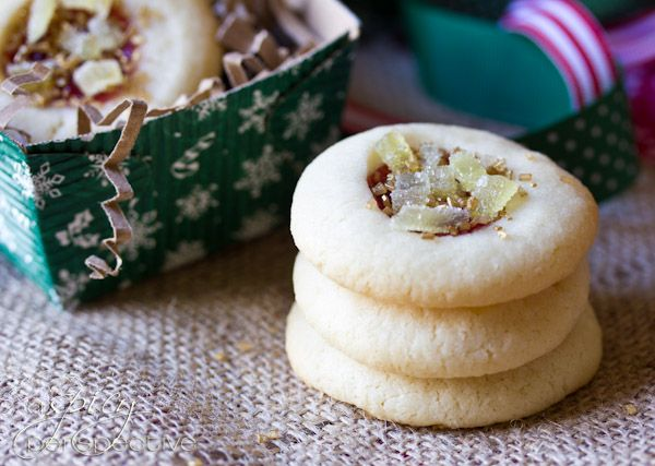 Cherry Ginger Thumbprint Cookies | Christmas | Pinterest
