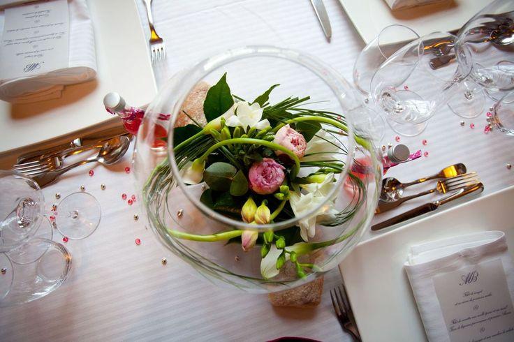 Composition florale pour table for Pinterest centre de table