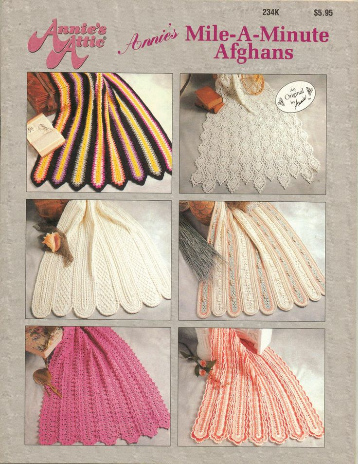 Annies Attic Patterns : Annies attic mile-a-minute afghans crochet patterns, 6 designs: sout ...