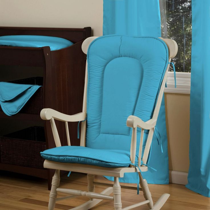 Solid Turquoise Rocking Chair Pad #carouseldesigns