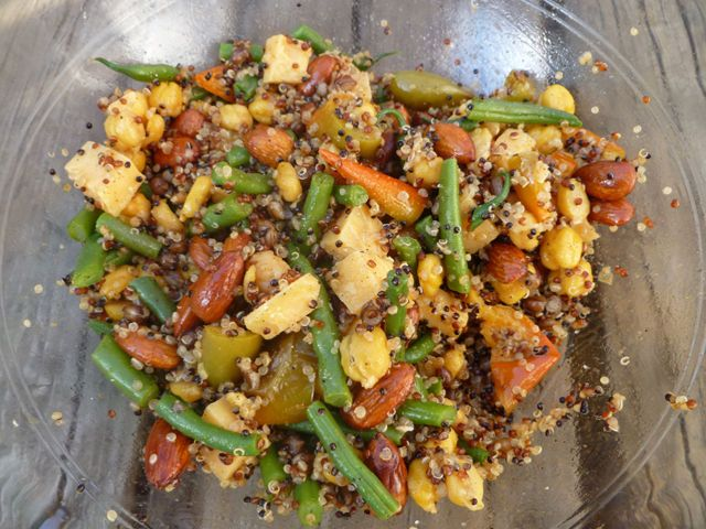 Quinoa, Wheat Berry, and Chickpea Salad with Green Beans | Recipe