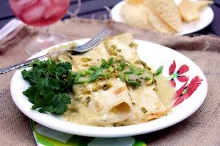 Cheese Enchiladas with Salsa Verde | Yummy Recipes | Pinterest