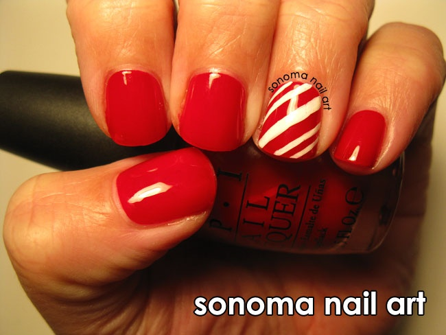 Candy cane nails nails pinterest