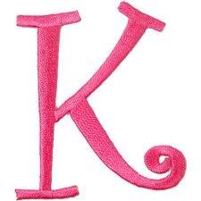 K Letter Images In Pink Pink letter