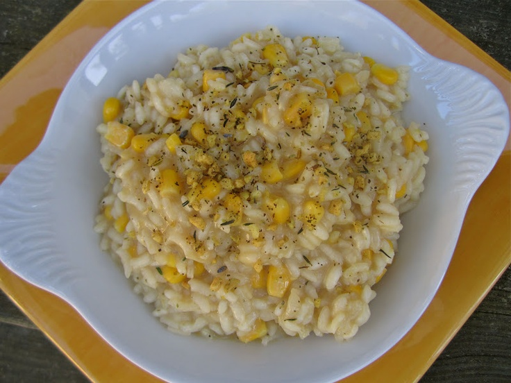 Sweet Corn Risotto | Sides | Pinterest