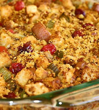 Cranberry-Corn Bread Stuffing | Food and Drink | Pinterest