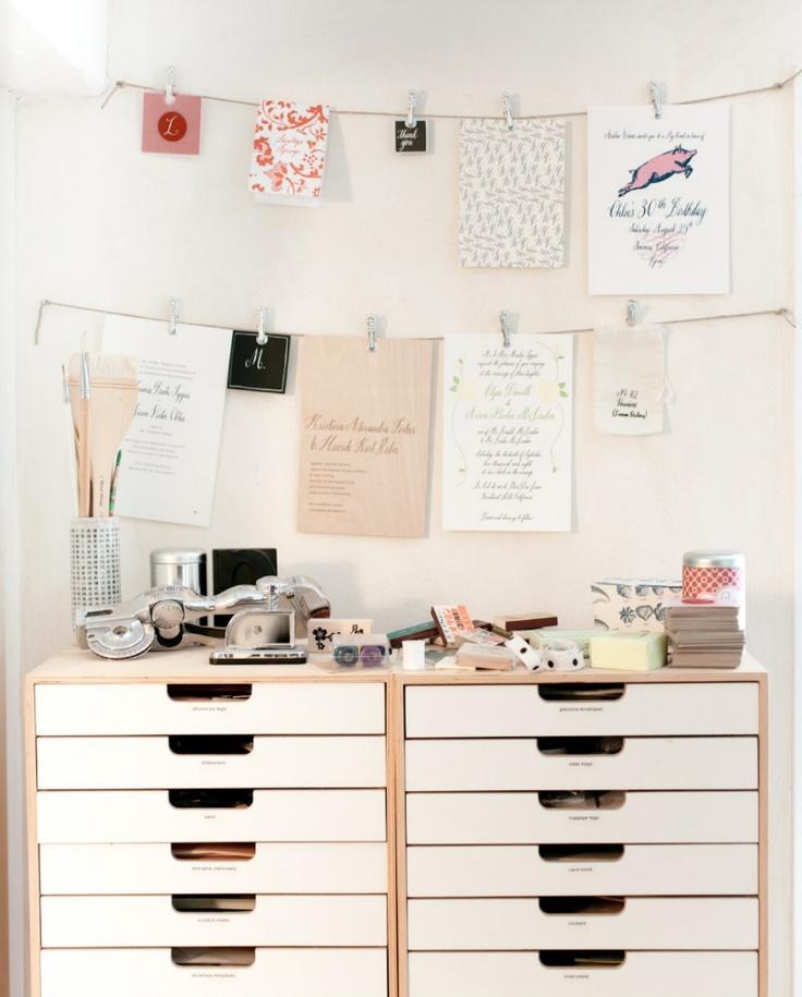 Storage + space for organization