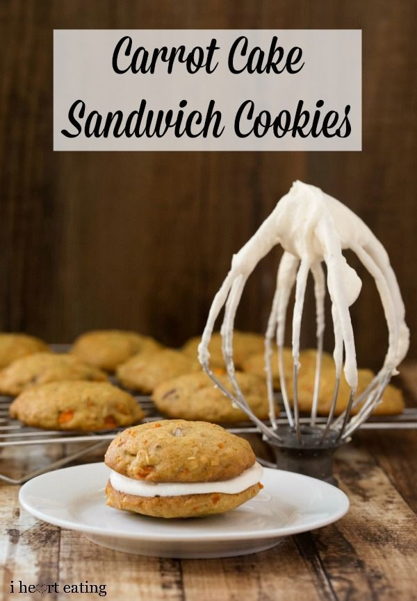 Carrot Cake Sandwich Cookies | For The Love Of Food | Pinterest
