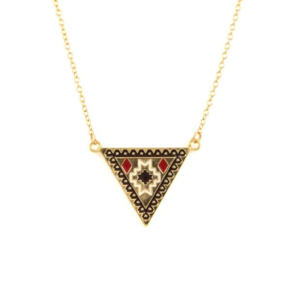 Aztec Chain Necklace