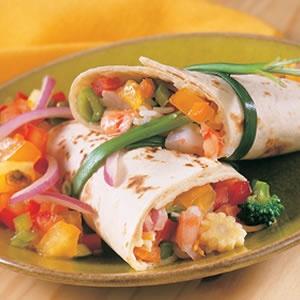 Shrimp Stir-Fry Wrap | New Recipes | Pinterest