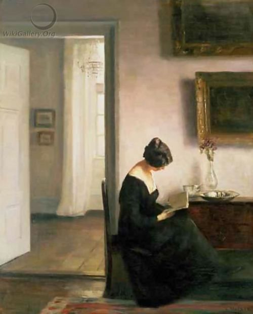 A Lady in an Interior. Carl Holsoe (Danish, 1863-1935) ♥