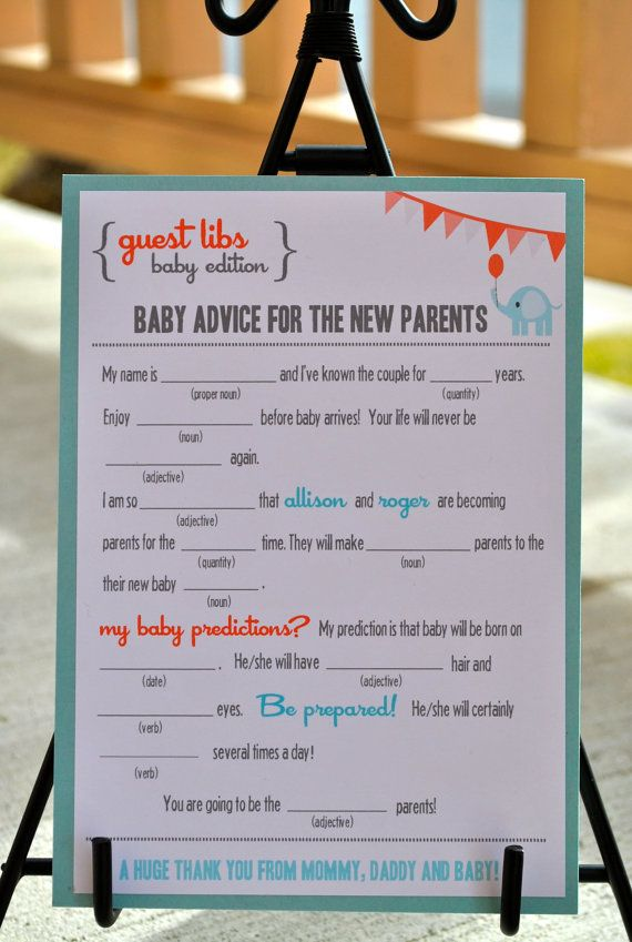 new mad libs baby shower edition circus elephant