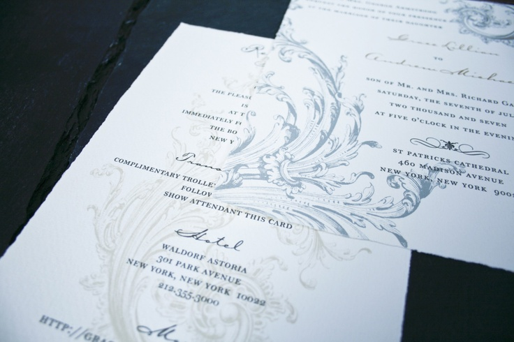 Romantic Wedding Invitations - sample etsy.com