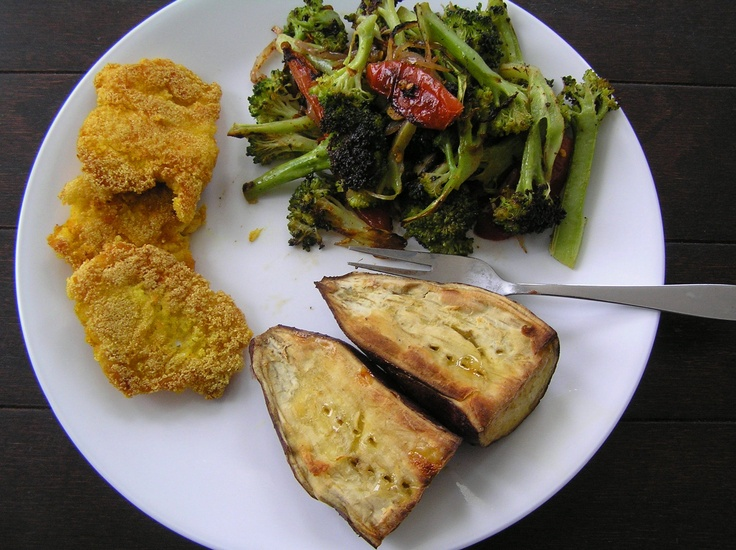... Potato, Roasted Broccoli with Shallots & Tomato and Pan Sauteed Spicy