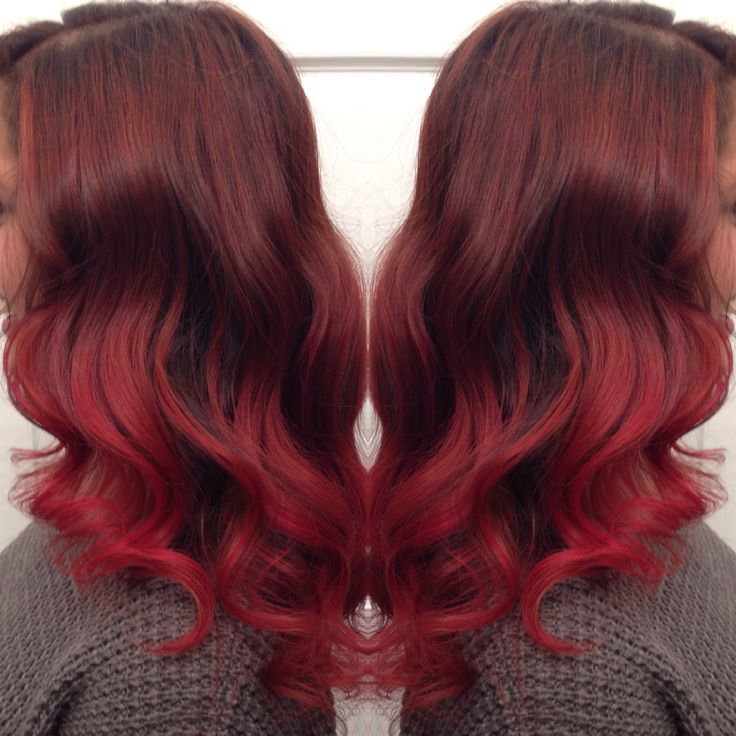 Red Hair Highlights Balayage Ombre Balayage Pinterest