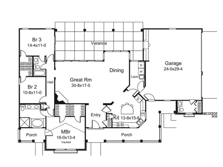 Big great room house plans pinterest for Large great room house plans