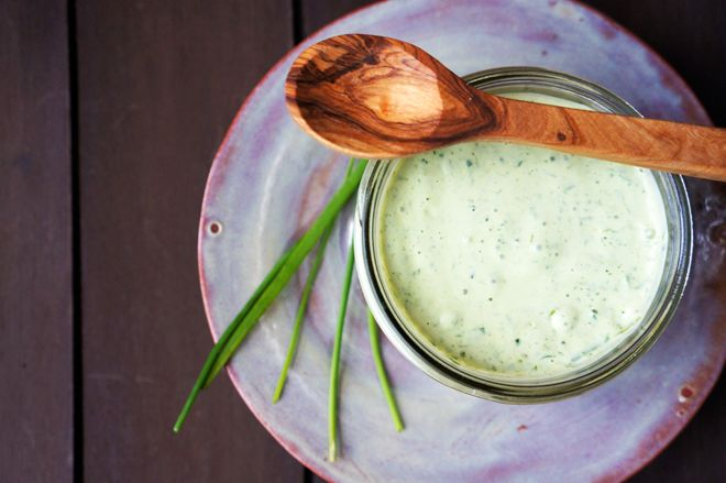 ... and salty anchovies combine in this classic Green Goddess Dressing