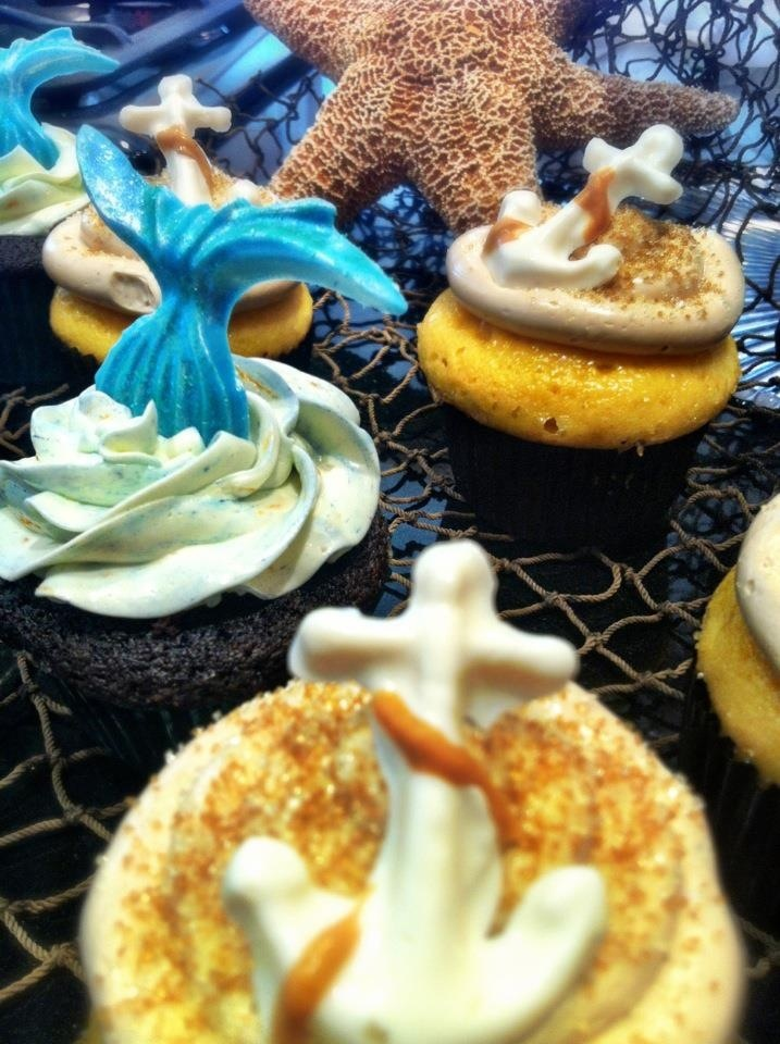 Bow cupcake (fiery chile chocolate stout filled with spiced rum spiked ...