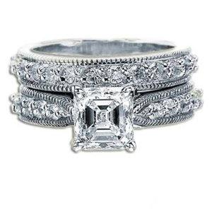 Ideal asscher cut diamond ring wedding stuff pinterest