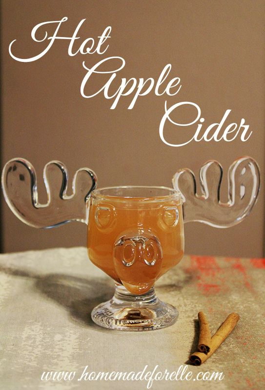 hot apple cider, great pick-me-up for the winter. add a little rum