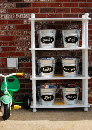 outdoor toy-storage for garage