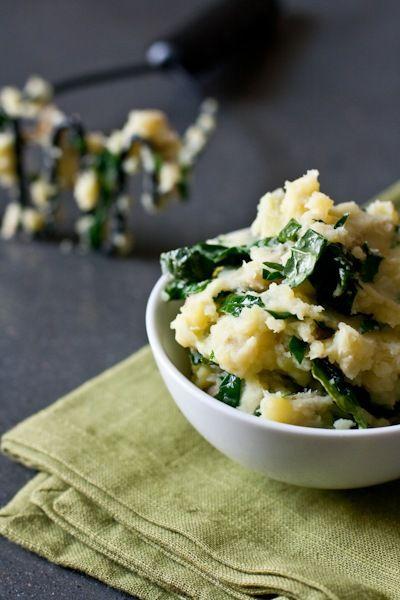 salt and vinegar kale mashed potatoes
