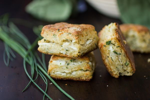 Flaky Goat Cheese Chive Biscuits | Cheese & Crackers | Pinterest