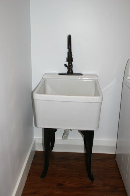 Cheap Utility Sink : laundry sink...still dreaming of this one.