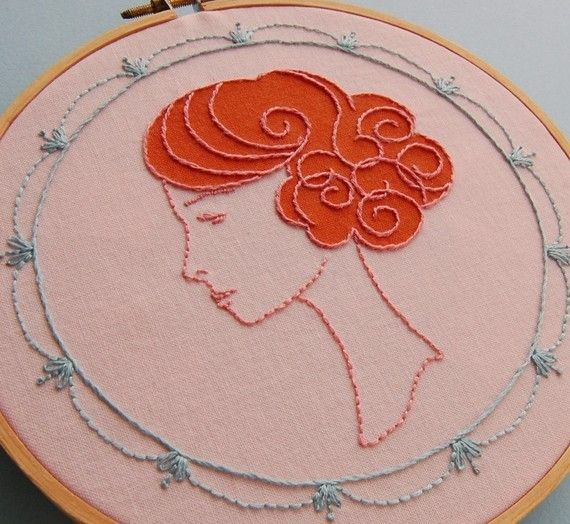 To embroider!