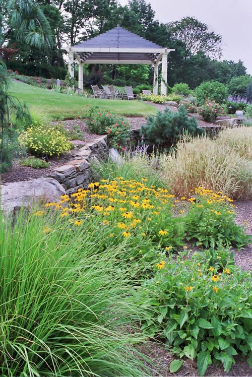 Landscaping landscaping ideas on a slope for Garden designs for slopes