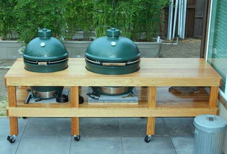 outdoor kitchen plans big green egg 300 project pinterest